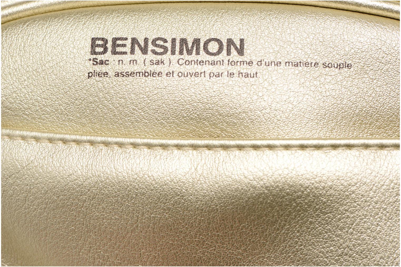 Sacs à main Bensimon Fancy Fake leather Roung bag Or et bronze vue gauche