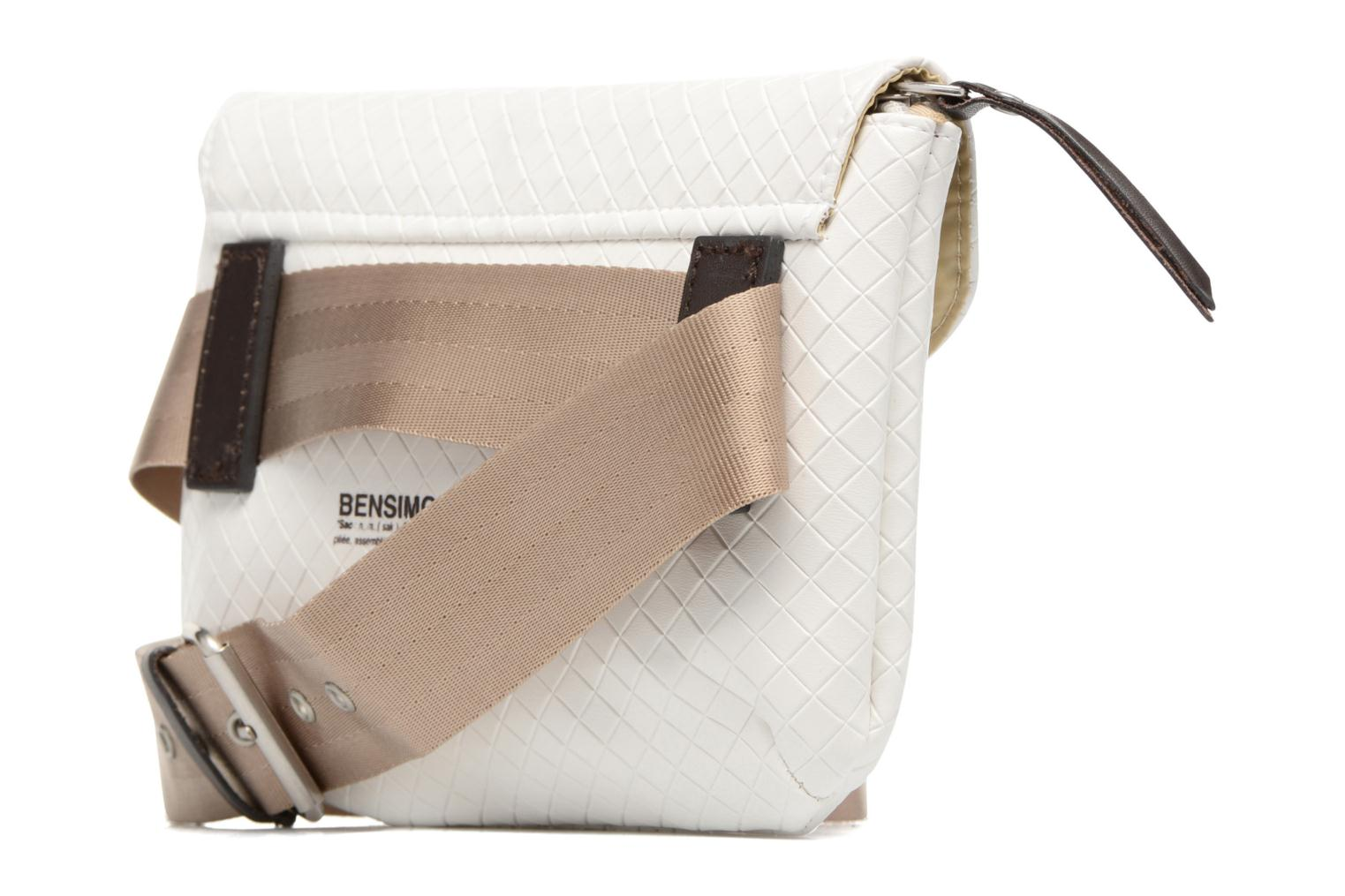 Fancy Canvas line Belt bag Ecru