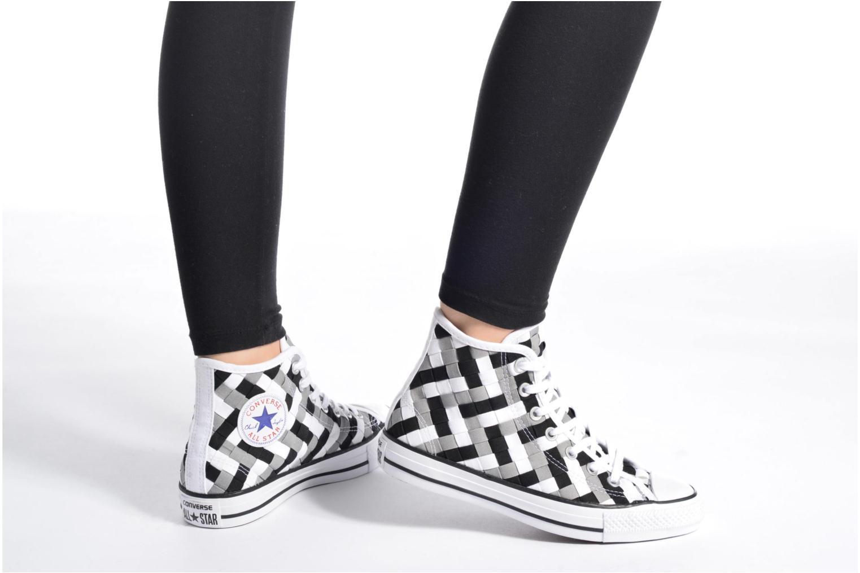 Sneaker Converse Chuck Taylor All Star Coton Hi Woven Canvas W grau ansicht von unten / tasche getragen
