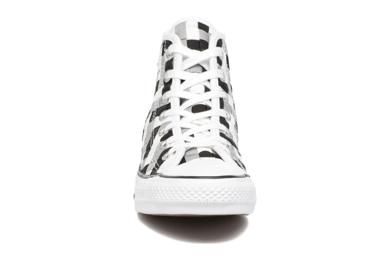 Baskets Converse Chuck Taylor All Star Coton Hi Woven Canvas W Gris vue portées chaussures