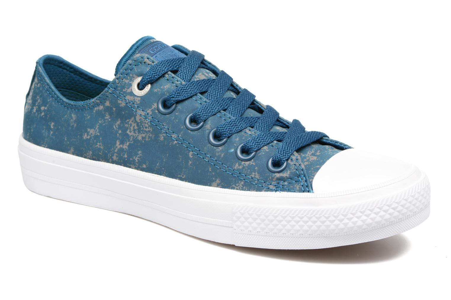 Chuck Taylor All Star II Ox Reflective Wash W Blue Lagoon/Pure Silver/White