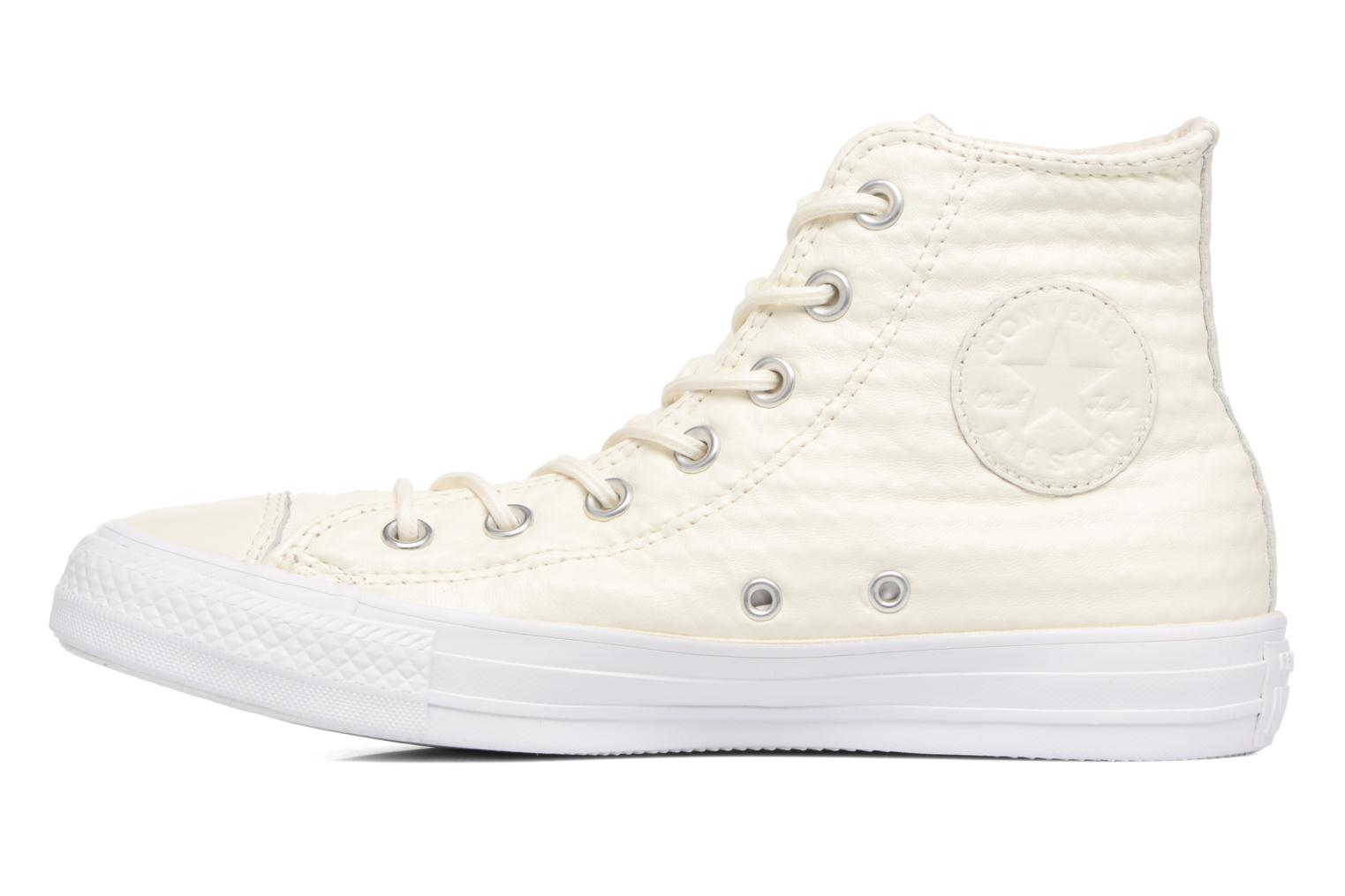 Baskets Converse Chuck Taylor All Star Craft Leather Hi Blanc vue face