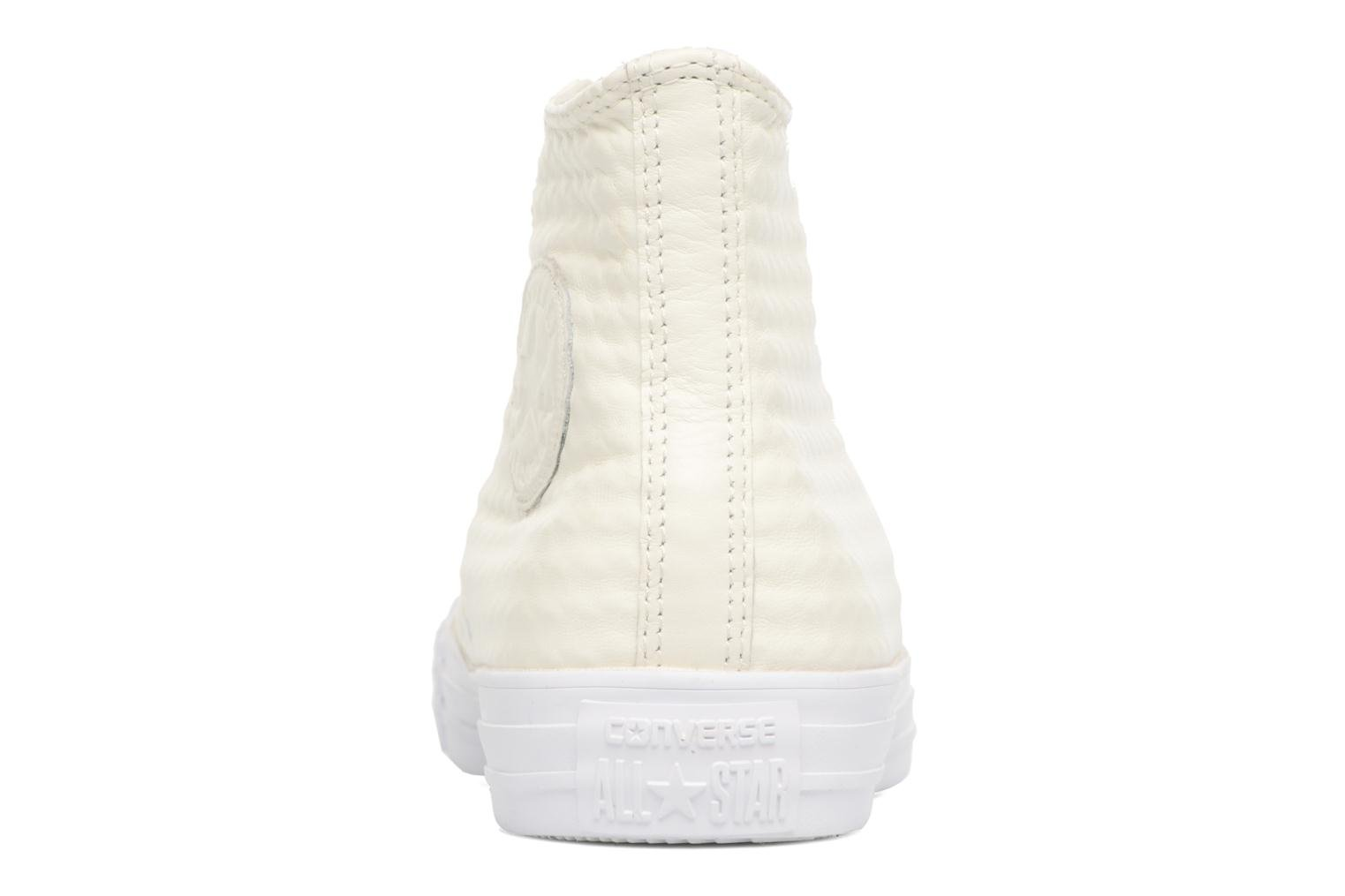 Baskets Converse Chuck Taylor All Star Craft Leather Hi Blanc vue droite