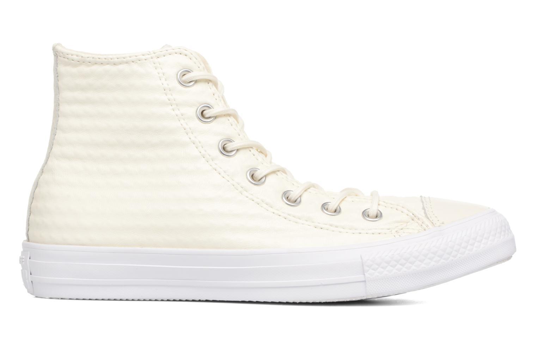 Sneaker Converse Chuck Taylor All Star Craft Leather Hi weiß ansicht von hinten