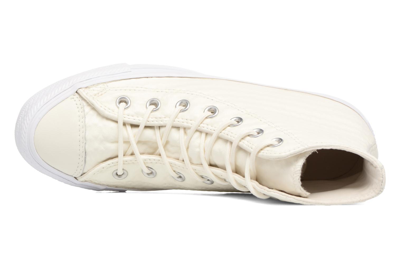 Sneaker Converse Chuck Taylor All Star Craft Leather Hi weiß ansicht von links
