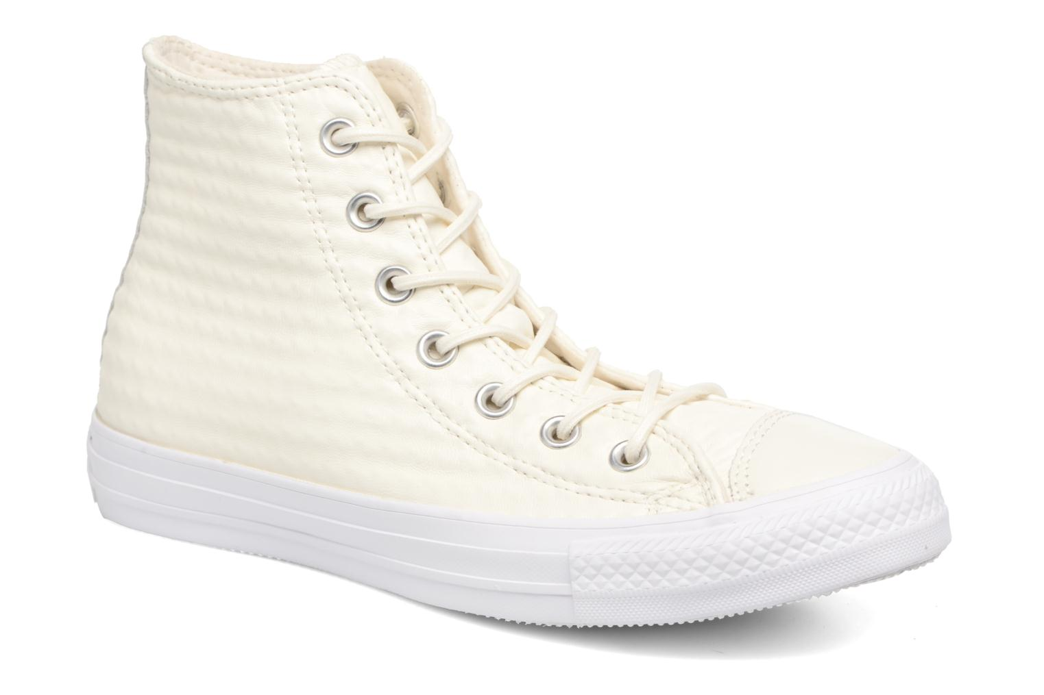 Baskets Converse Chuck Taylor All Star Craft Leather Hi Blanc vue détail/paire