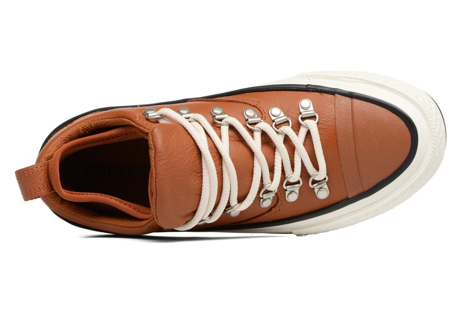 Baskets Converse Chuck Taylor All Star Descent Quilted Leather Ox W Marron vue gauche