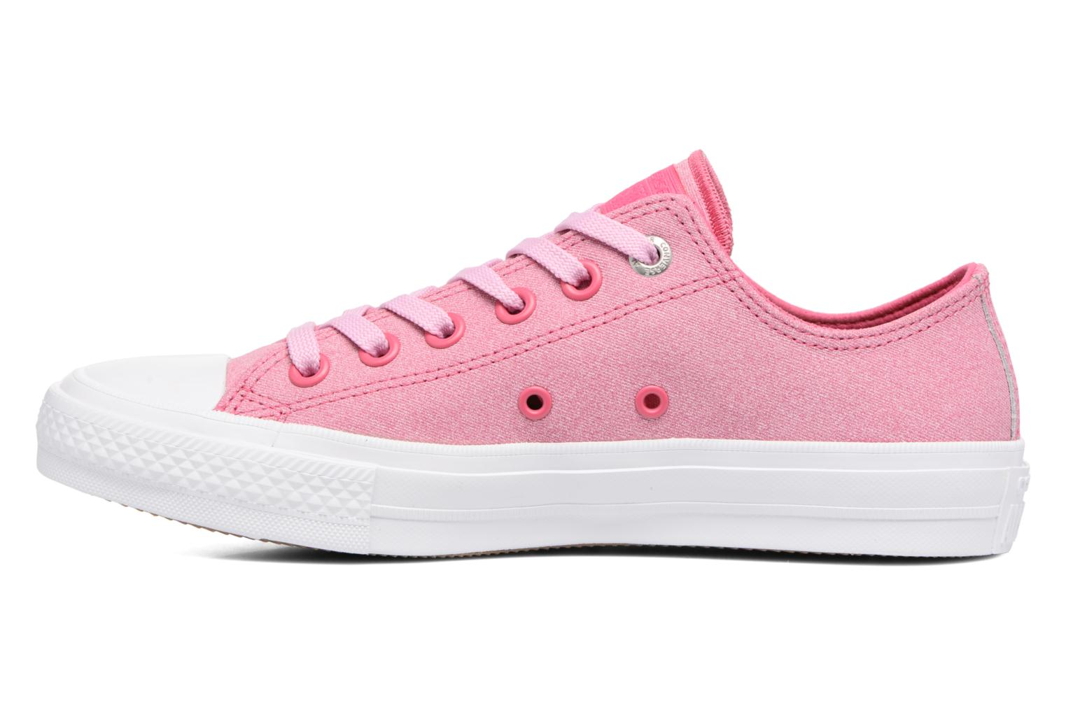 Baskets Converse Chuck II Two-Tone Leather Ox W Rose vue face