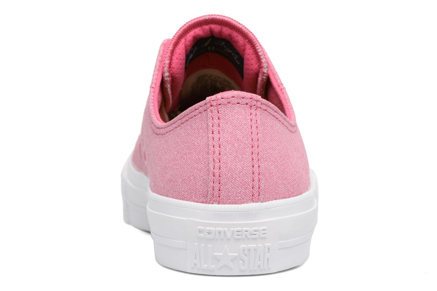Deportivas Converse Chuck II Two-Tone Leather Ox W Rosa vista lateral derecha
