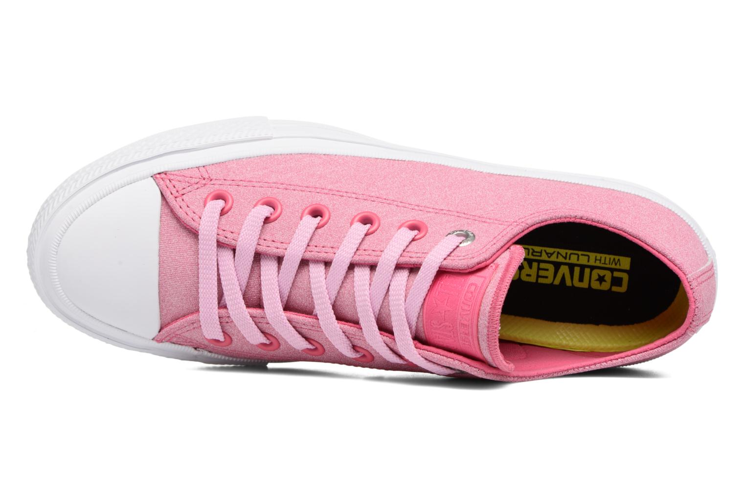 Sneaker Converse Chuck II Two-Tone Leather Ox W rosa ansicht von links