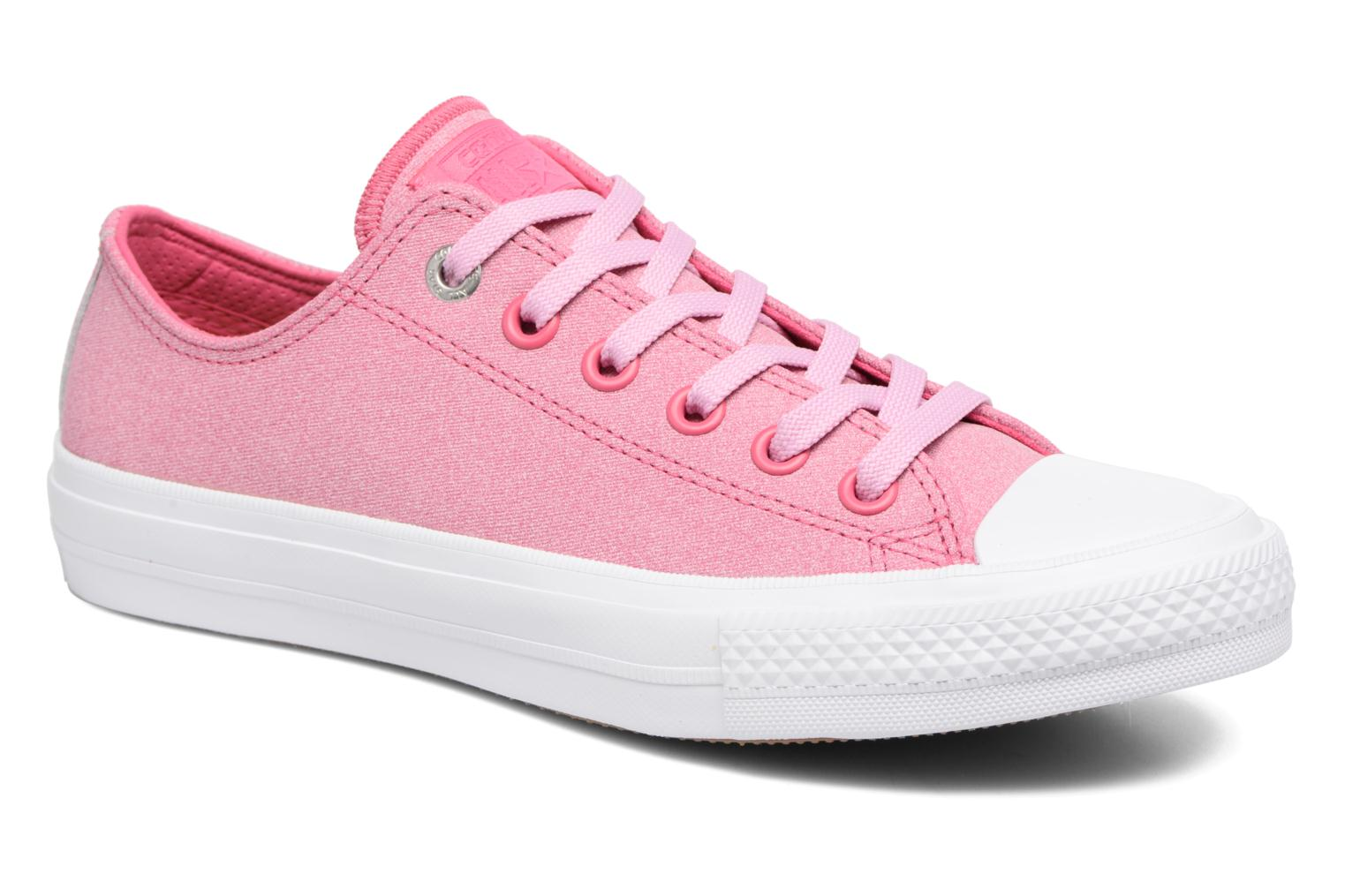 Baskets Converse Chuck II Two-Tone Leather Ox W Rose vue détail/paire