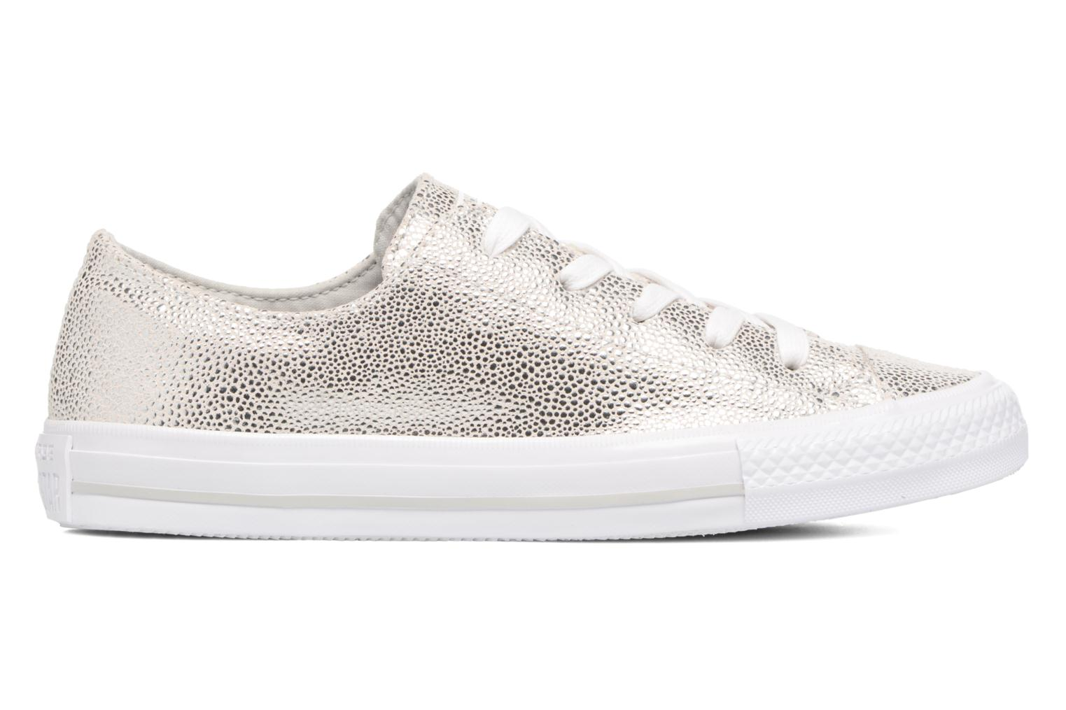 Chuck Taylor All Star Gemma Ox Sting Ray Leather Pure Silver/White/White