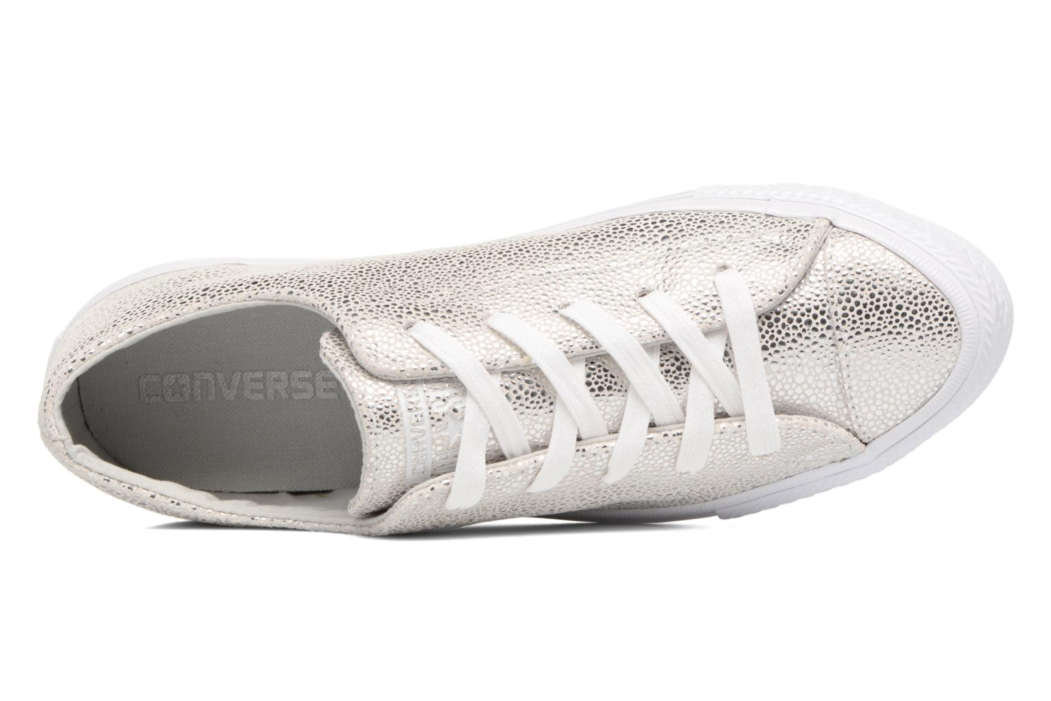 Baskets Converse Chuck Taylor All Star Gemma Ox Sting Ray Leather Argent vue gauche