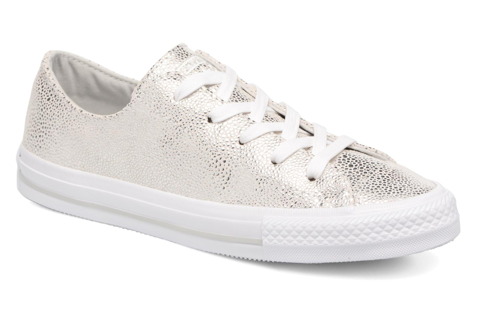 Baskets Converse Chuck Taylor All Star Gemma Ox Sting Ray Leather Argent vue détail/paire