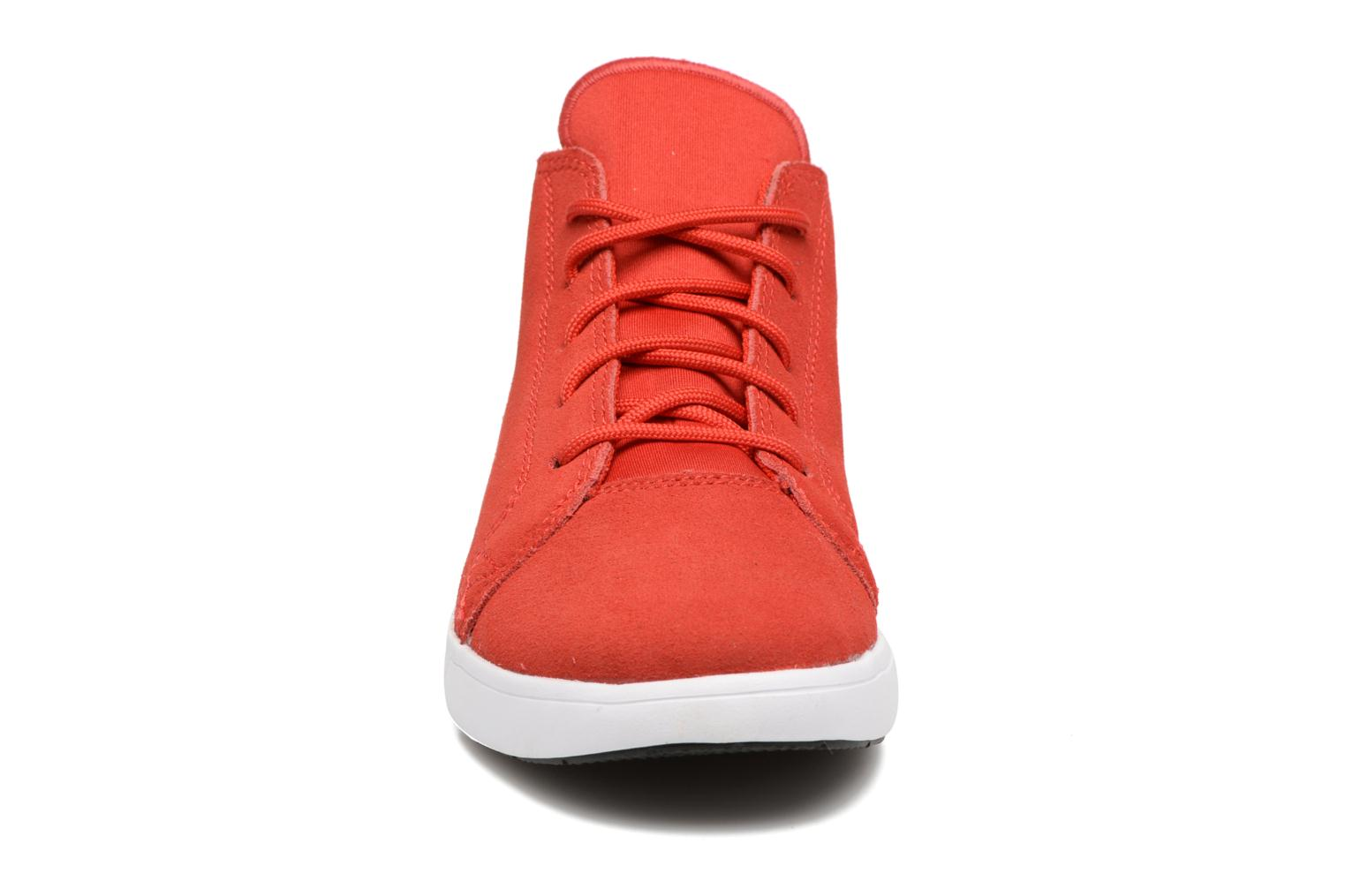 Baskets Converse Chuck Taylor All Star Easy Ride Mid Rouge vue portées chaussures