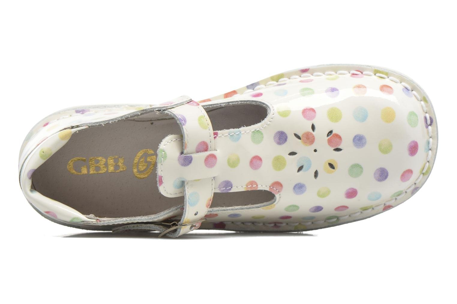 Ballet pumps GBB Knepa White view from the left