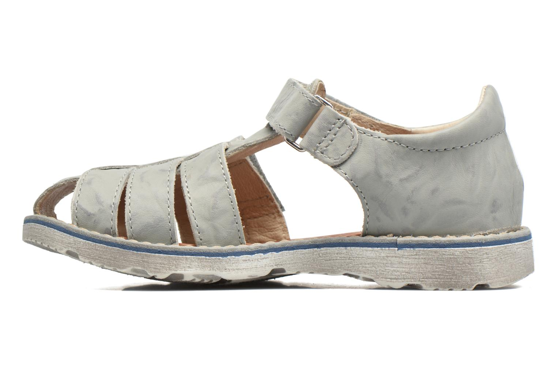 Sandales et nu-pieds GBB Manuel II Gris vue face