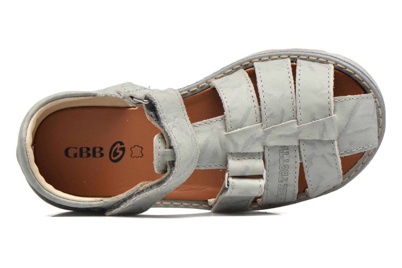 Sandales et nu-pieds GBB Manuel II Gris vue gauche