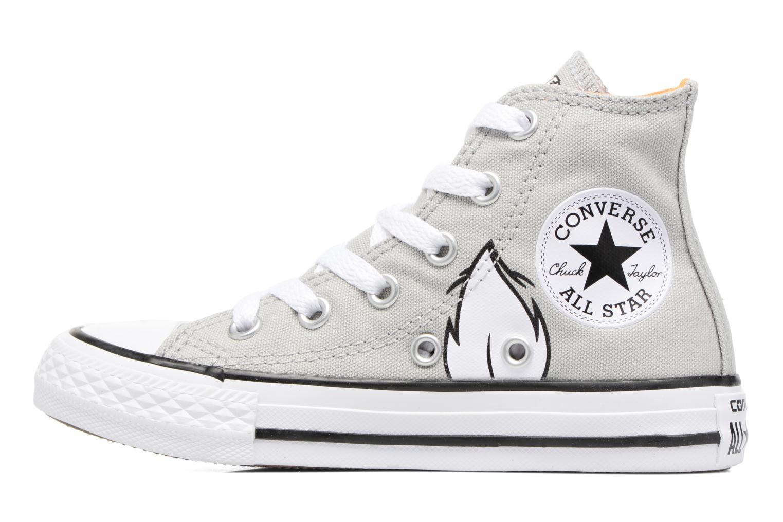 Sneaker Converse Chuck Taylor All Star Hi Bugs grau ansicht von vorne