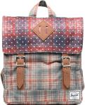 Rust Pld Polka Dot/Grey Plaid