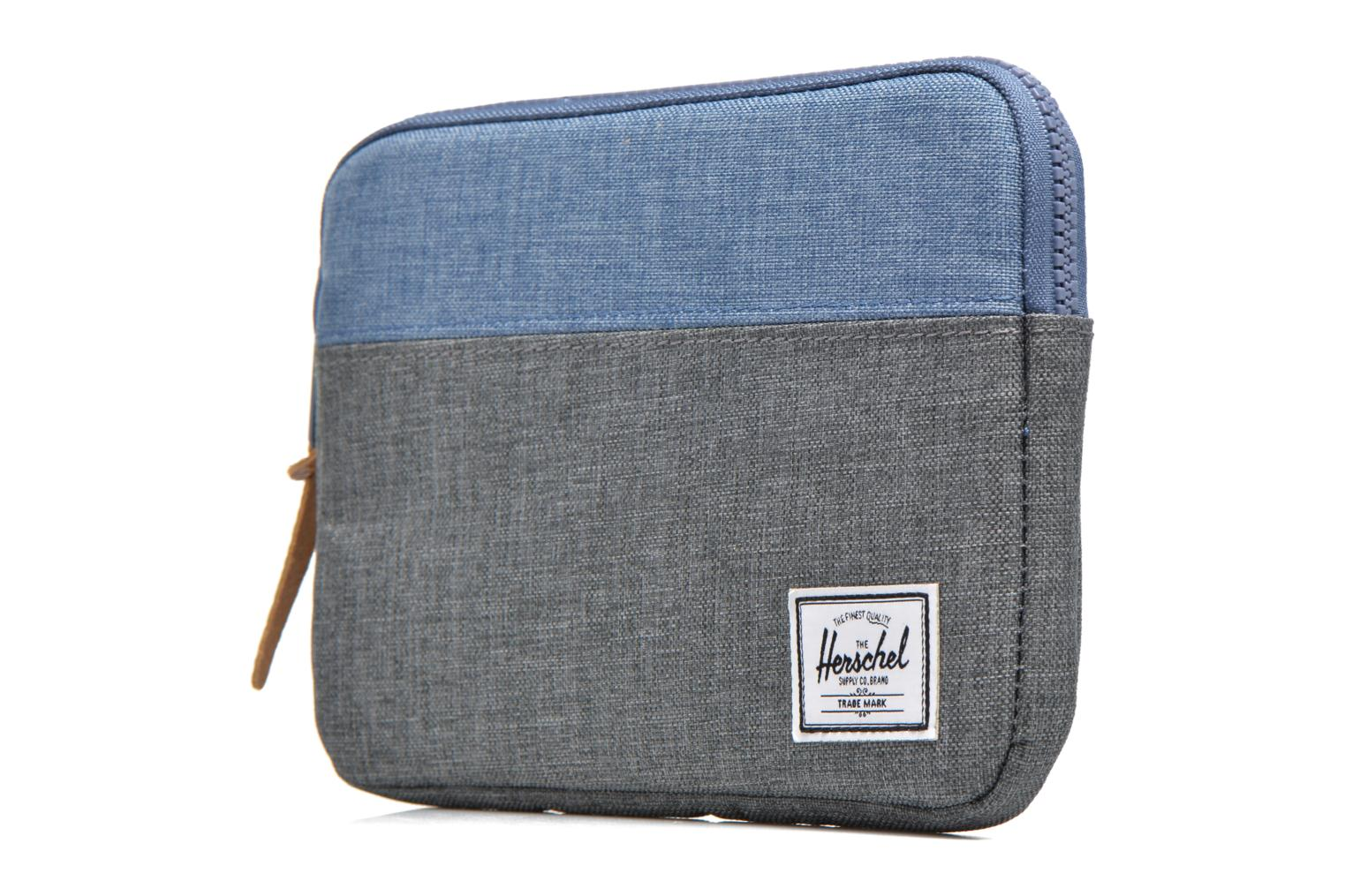 Anchor Sleeve For Ipad Mini Charcoal Crosshatch/Navy