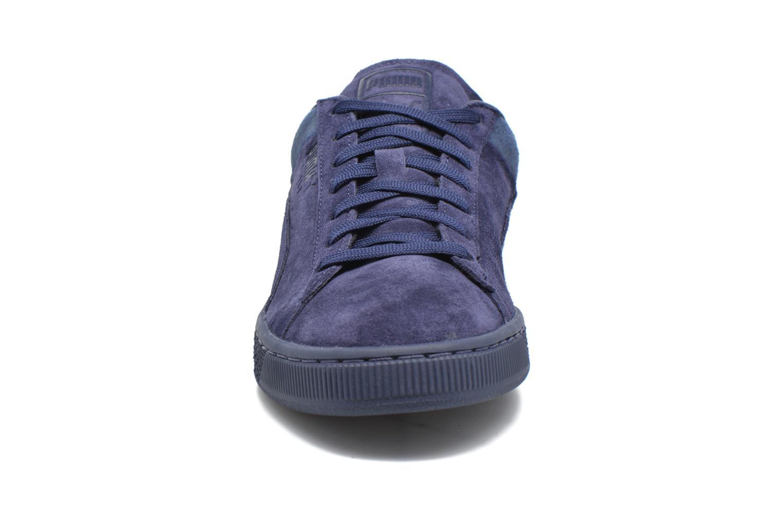 Baskets Puma Suede Classic Casual Bleu vue portées chaussures