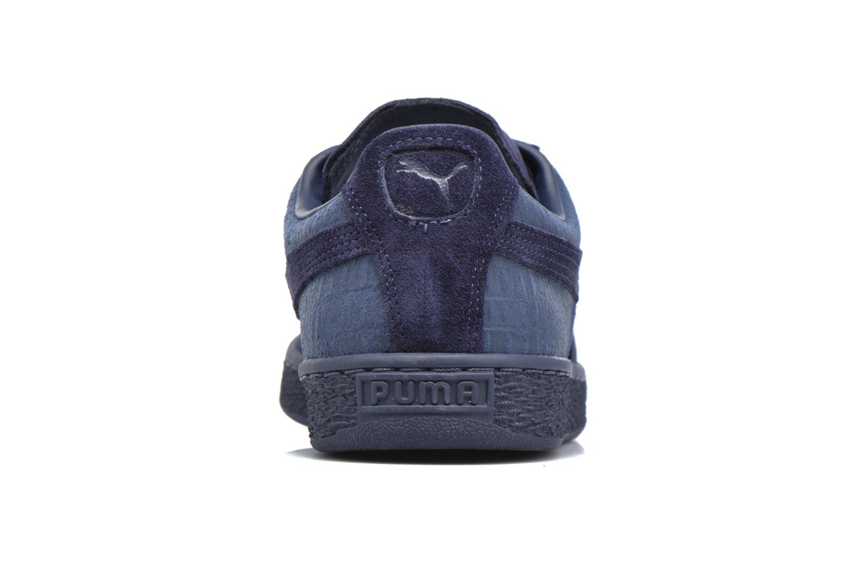 Baskets Puma Suede Classic Casual Bleu vue droite