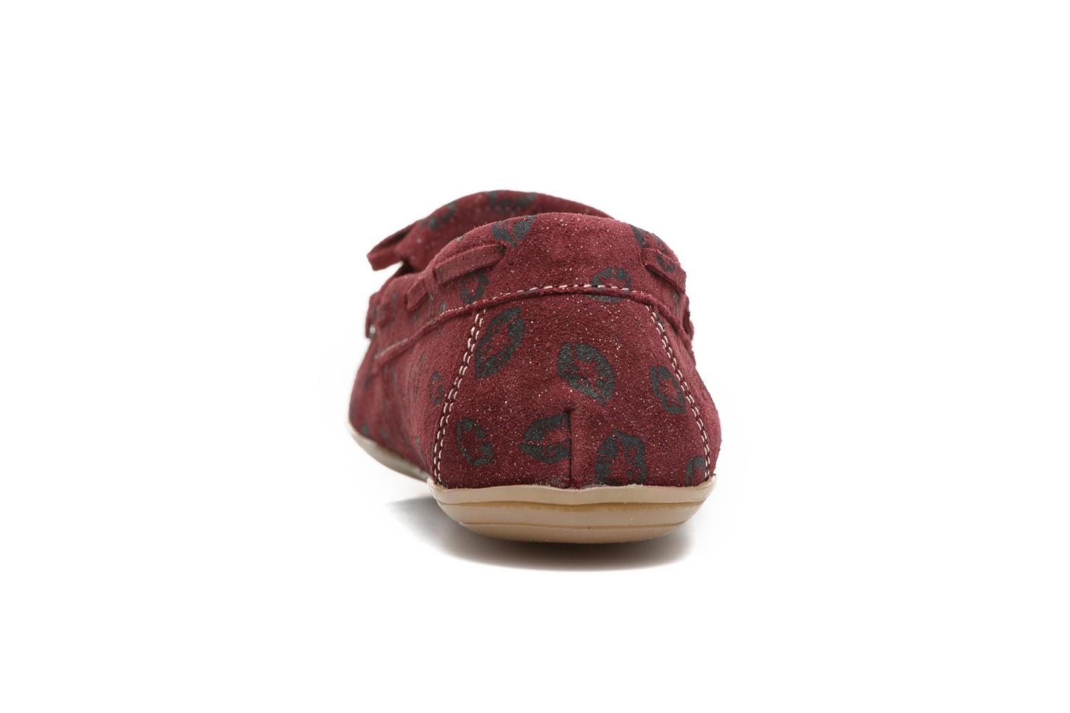Loafers Ippon Vintage Moc Kiss Burgundy view from the right