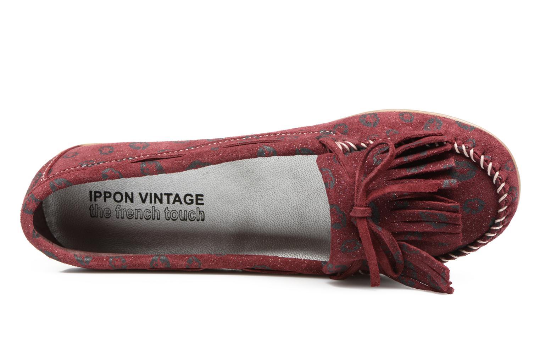 Mocassins Ippon Vintage Moc Kiss Bordeaux vue gauche