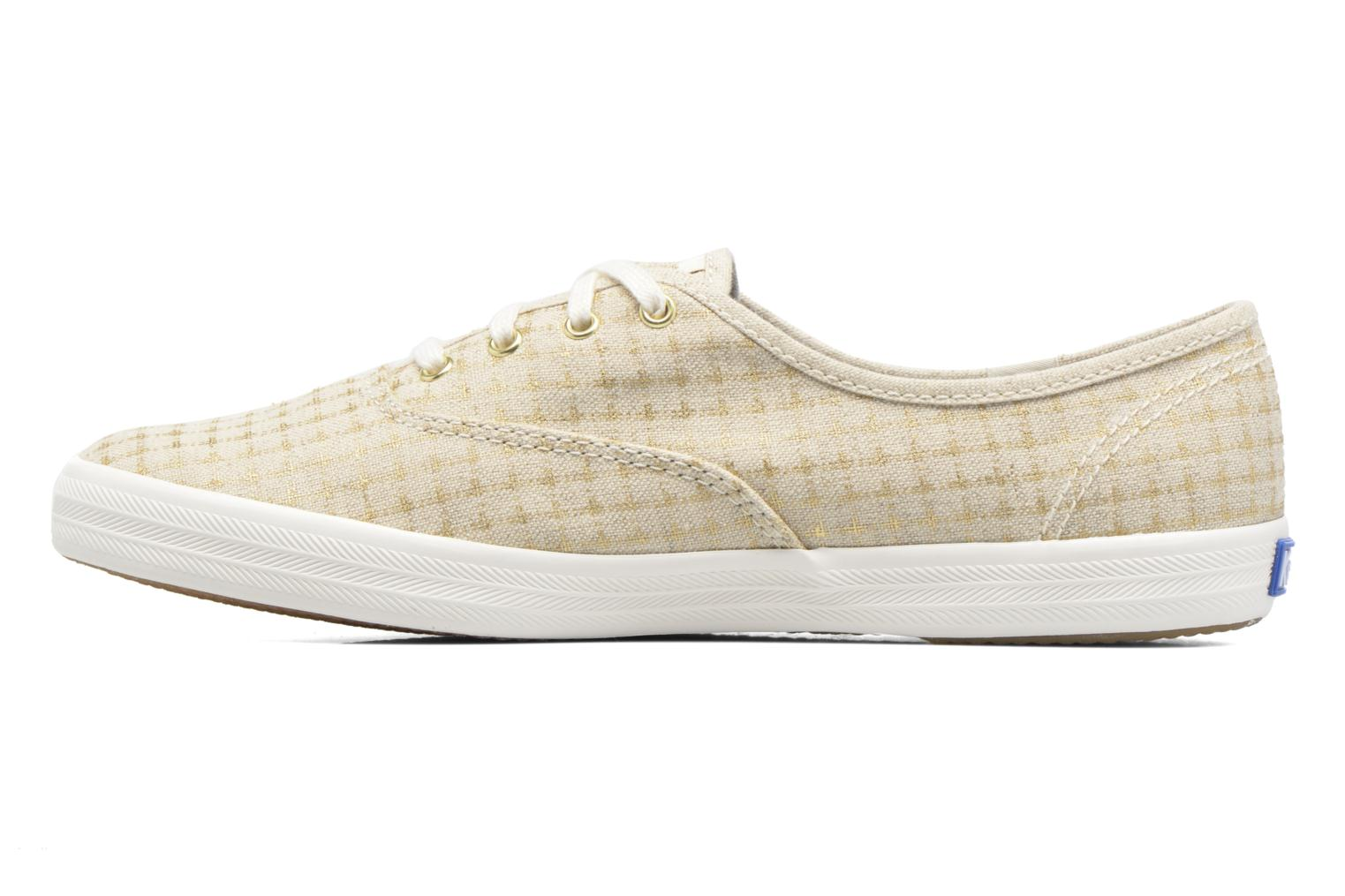Sneakers Keds Champion Foil Dot Nat Beige immagine frontale