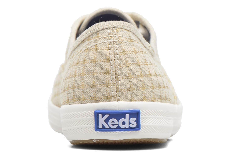 Sneakers Keds Champion Foil Dot Nat Beige immagine destra