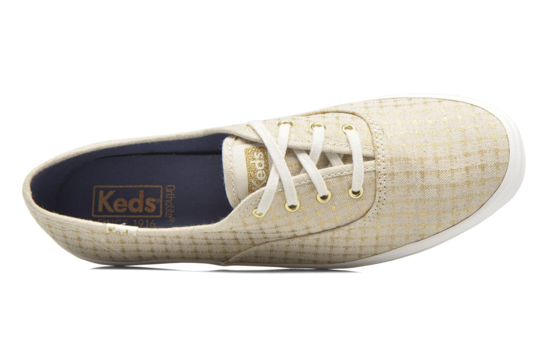 Sneakers Keds Champion Foil Dot Nat Beige immagine sinistra