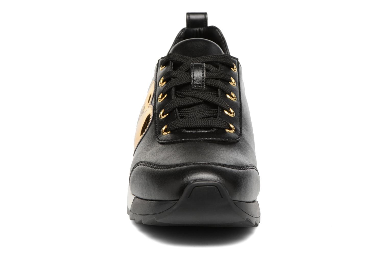 Baskets Love Moschino Gold Heart Sneaker Noir vue portées chaussures