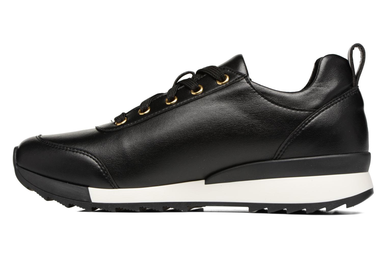 Baskets Love Moschino Gold Heart Sneaker Noir vue face