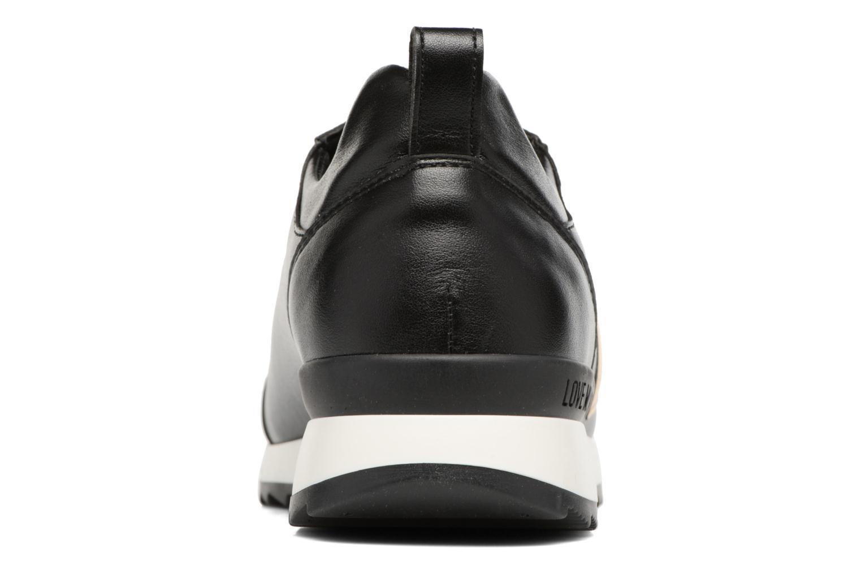 Deportivas Love Moschino Gold Heart Sneaker Negro vista lateral derecha