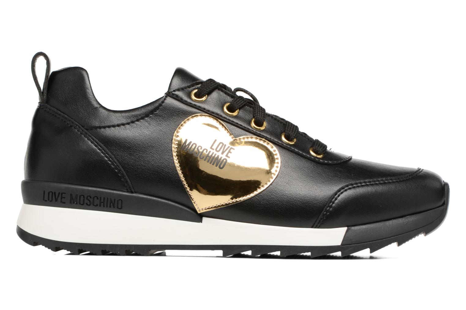 Trainers Love Moschino Gold Heart Sneaker Black back view