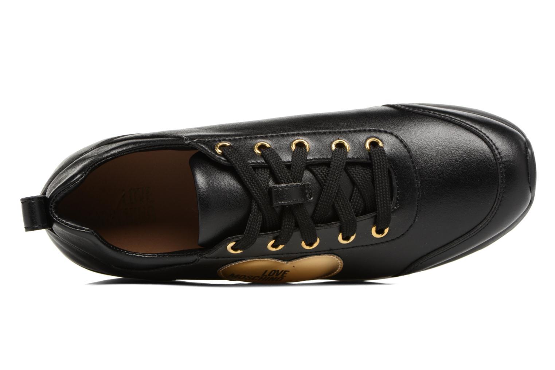 Deportivas Love Moschino Gold Heart Sneaker Negro vista lateral izquierda