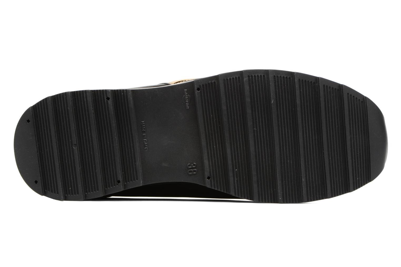 Baskets Love Moschino Gold Heart Sneaker Noir vue haut