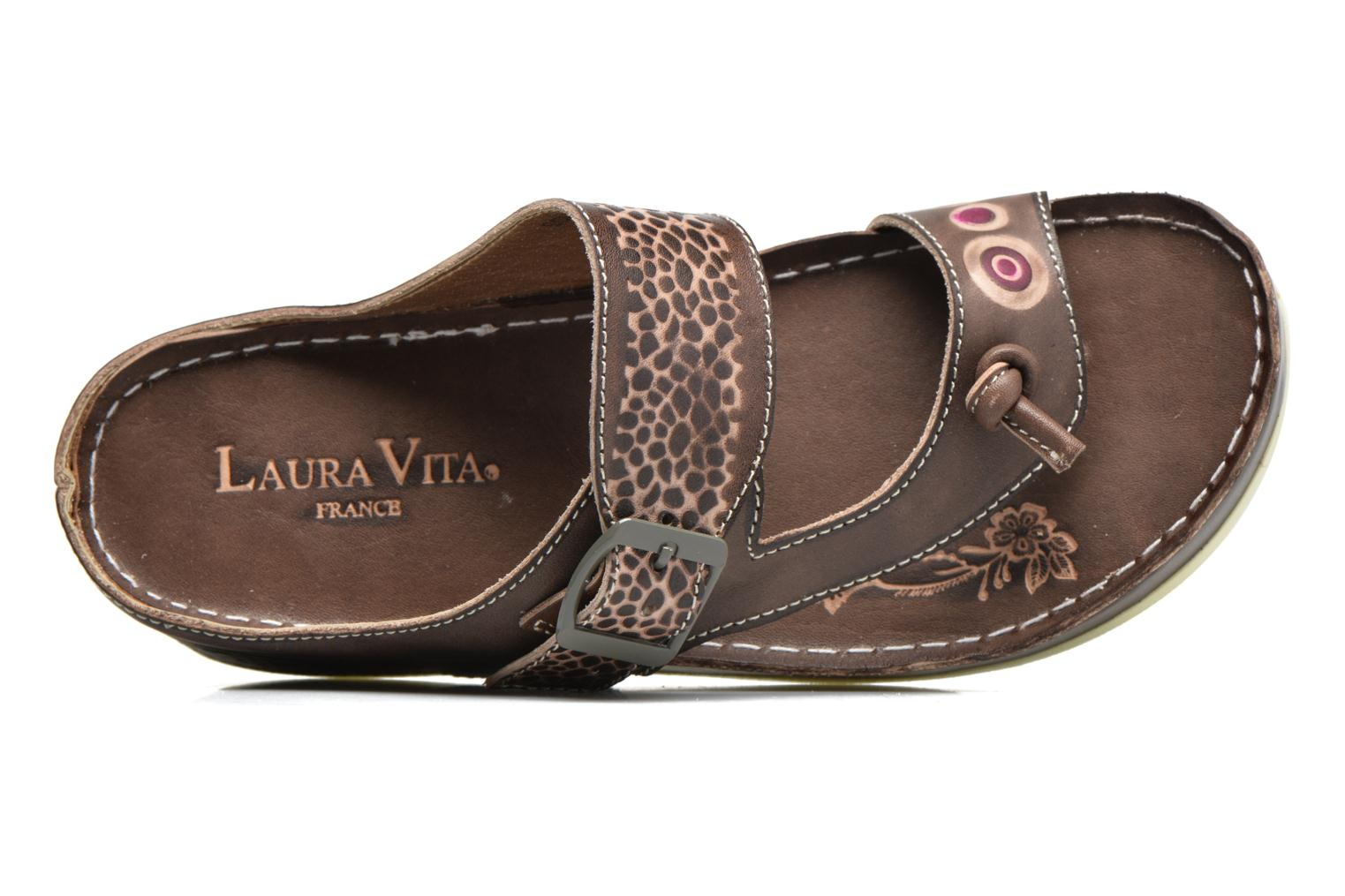 Mules & clogs Laura Vita Scenic Brown view from the left