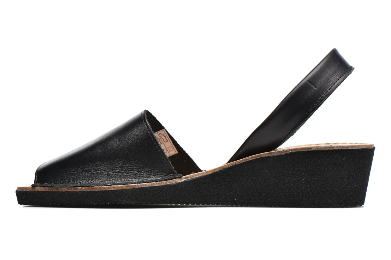 Sandales et nu-pieds Laura Vita Soft Noir vue face