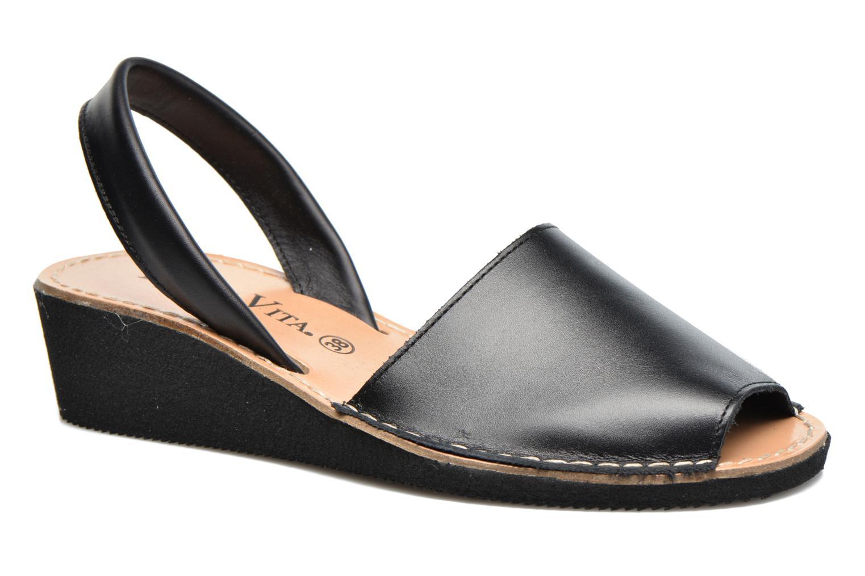 Sandales et nu-pieds Laura Vita Soft Noir vue détail/paire