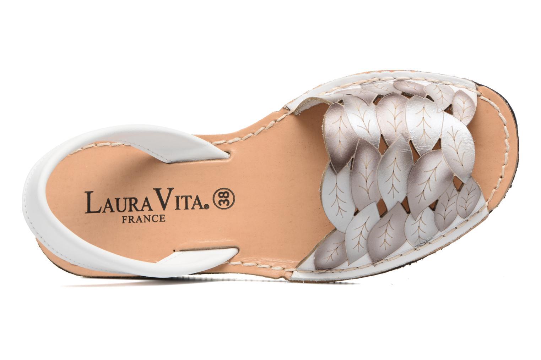 Sandales et nu-pieds Laura Vita Sonia Blanc vue gauche
