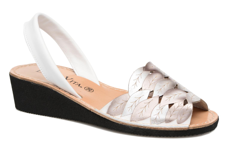 Sandales et nu-pieds Laura Vita Sonia Blanc vue détail/paire