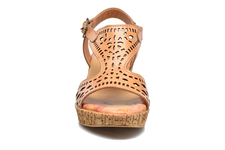 Sandales et nu-pieds Laura Vita Socle Marron vue portées chaussures