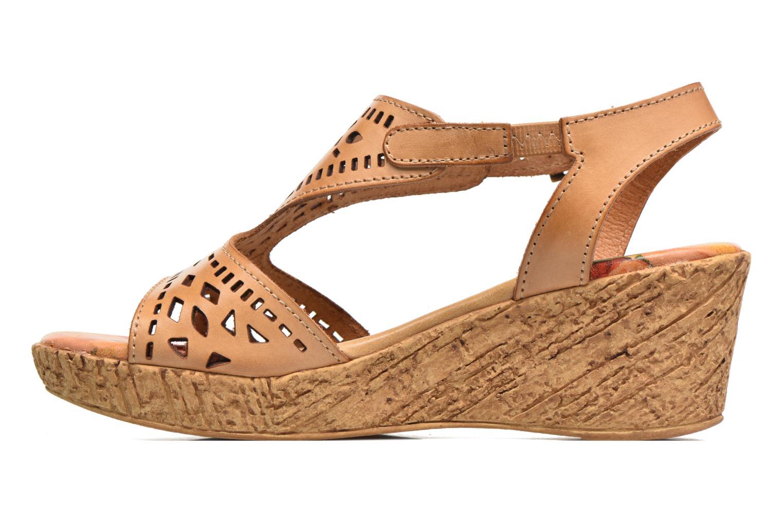 Sandales et nu-pieds Laura Vita Socle Marron vue face