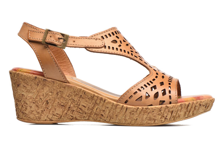 Sandales et nu-pieds Laura Vita Socle Marron vue derrière