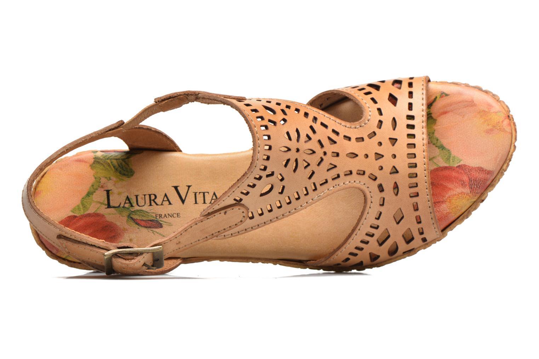 Sandales et nu-pieds Laura Vita Socle Marron vue gauche