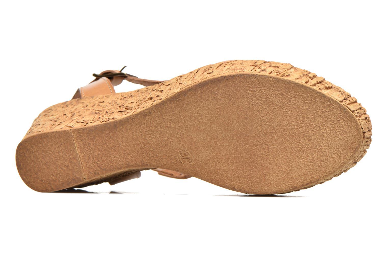 Sandales et nu-pieds Laura Vita Socle Marron vue haut