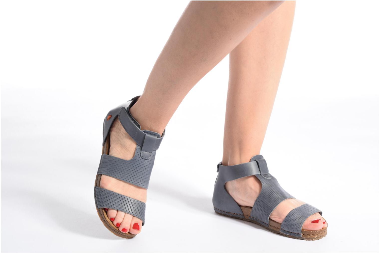 Sandales et nu-pieds Art Creta 472 Bleu vue bas / vue portée sac