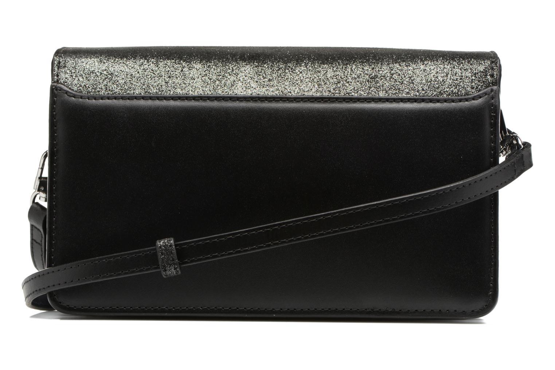 Sacs à main Le Tanneur Porté croisé Coquette TPM 3 soufflets glitter anti RFID Noir vue face